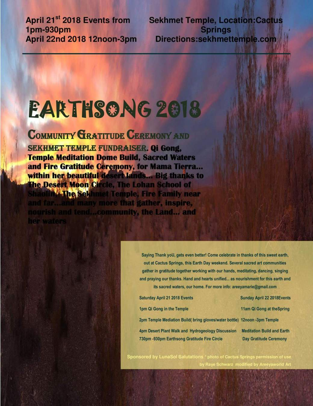 earthsong current flyer